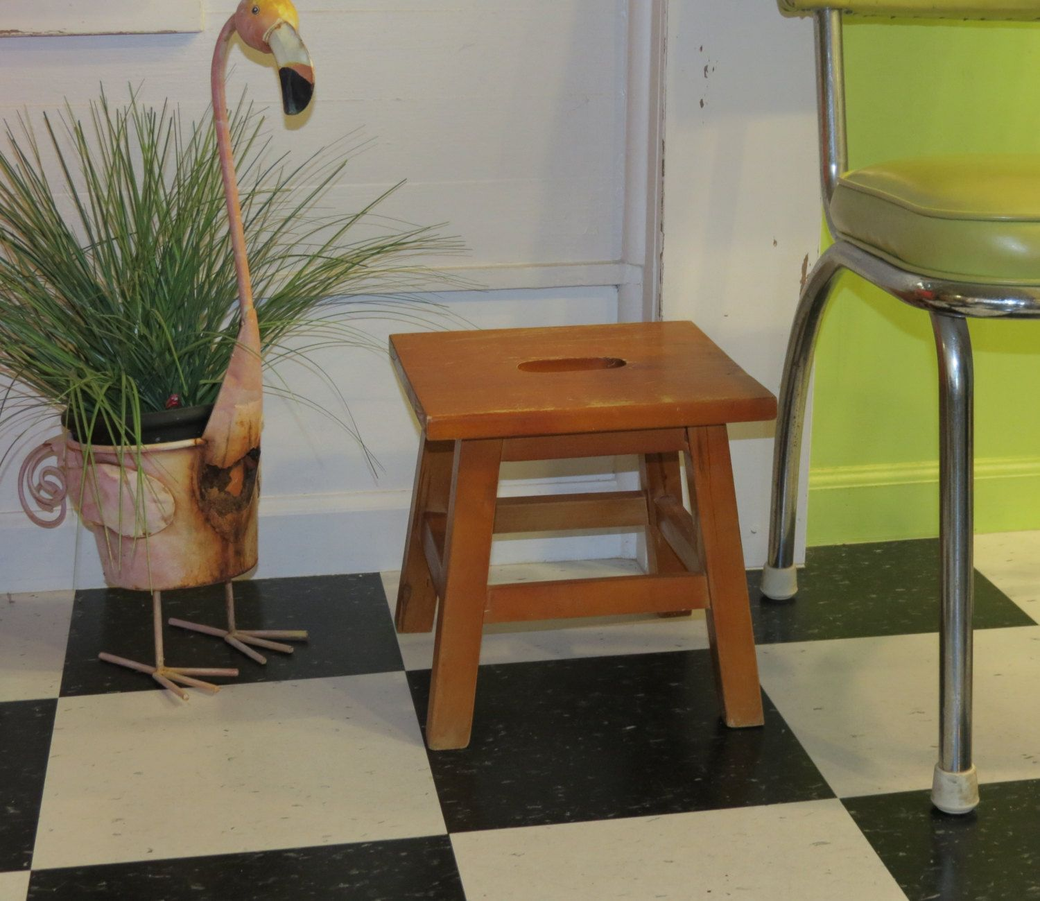Remarkable Vintage Wooden Step Stool Milking Stool With Handle In Ibusinesslaw Wood Chair Design Ideas Ibusinesslaworg