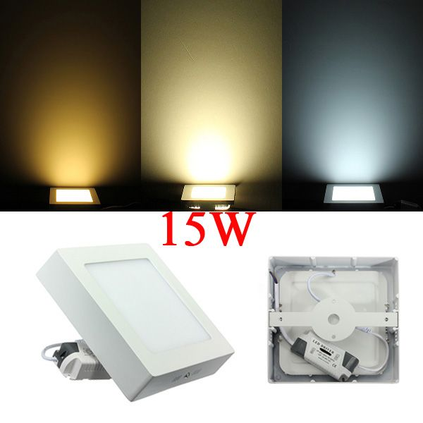 15w Square Dimmable Led Panel Ceiling Down Light Lamp Ac 85 265v