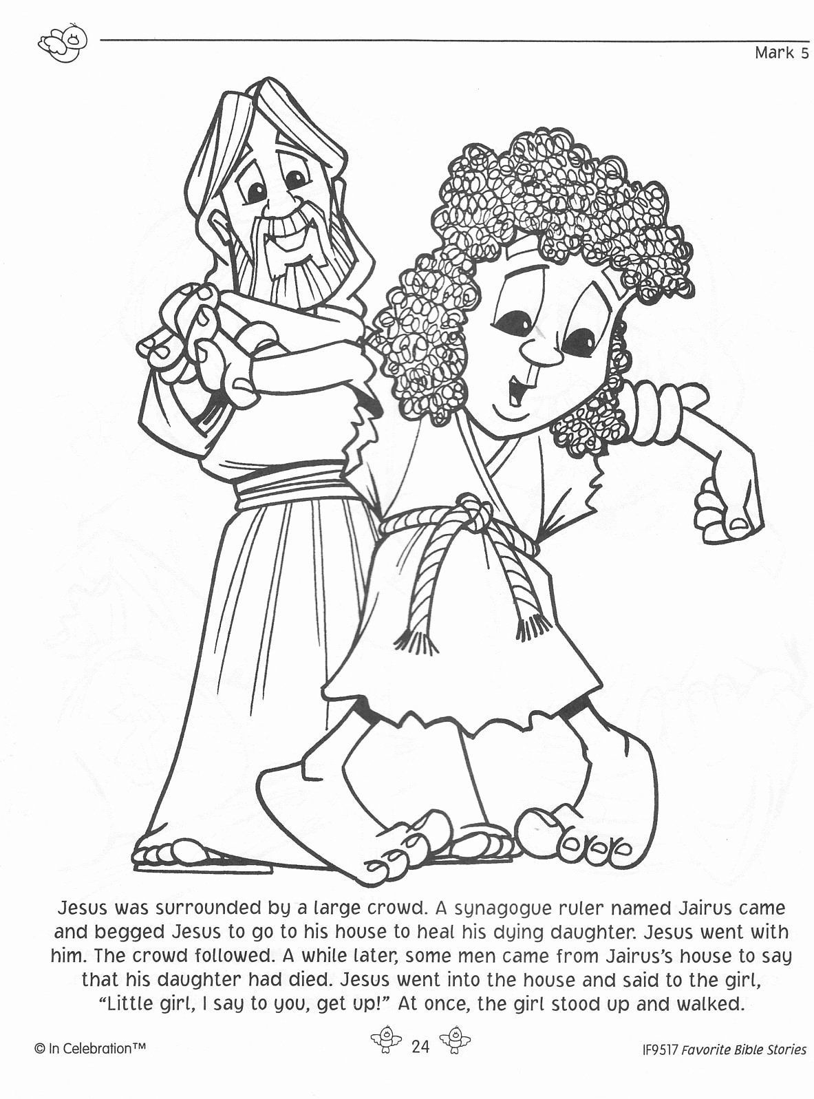 Jairus Daughter Coloring Page Lovely Jairus Daughter Coloring Page