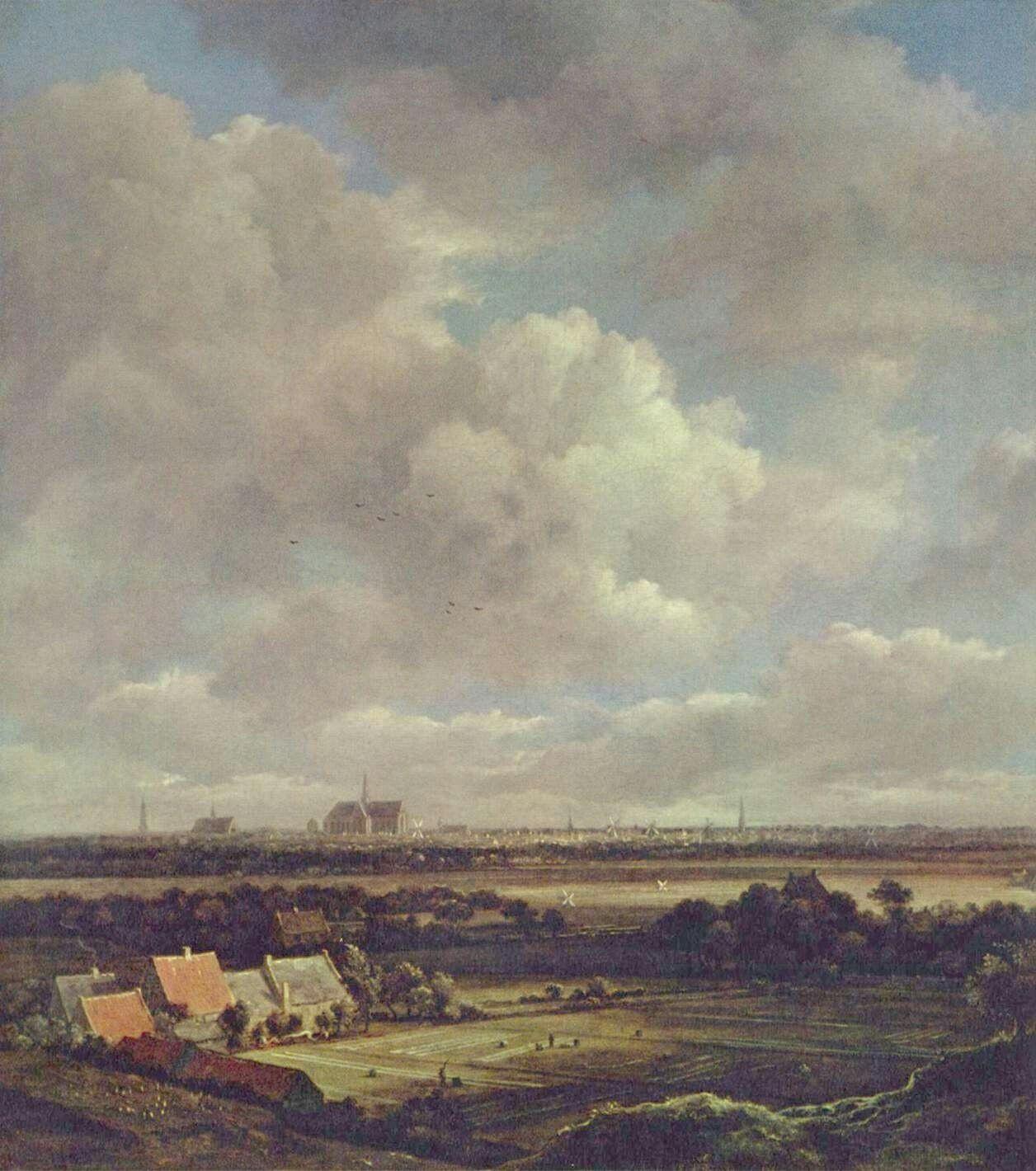 Landschaftsmalerei barock  Jacob Isaaksz. van Ruisdael. Blick auf Haarlem. 2. Drittel 17. Jh ...