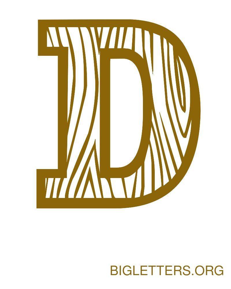 Big Decorative Wood Letter D | fonts | Pinterest | Letter ...