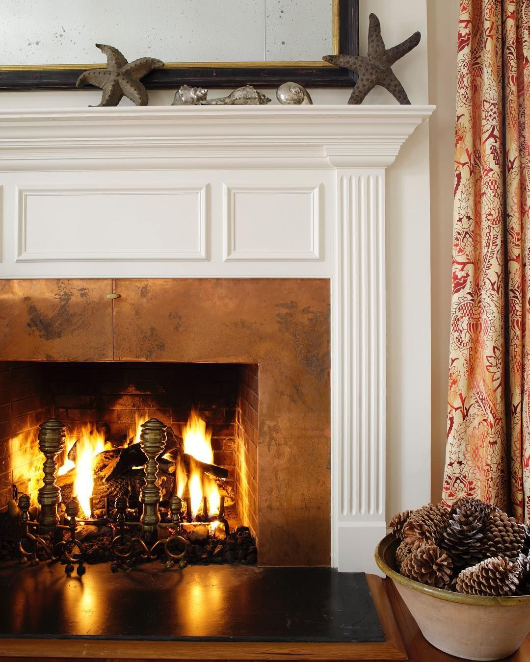 Copper Wall Ideas Copper Wall Fireplace I Die Fireplace Fireplace Wall Copper Wall