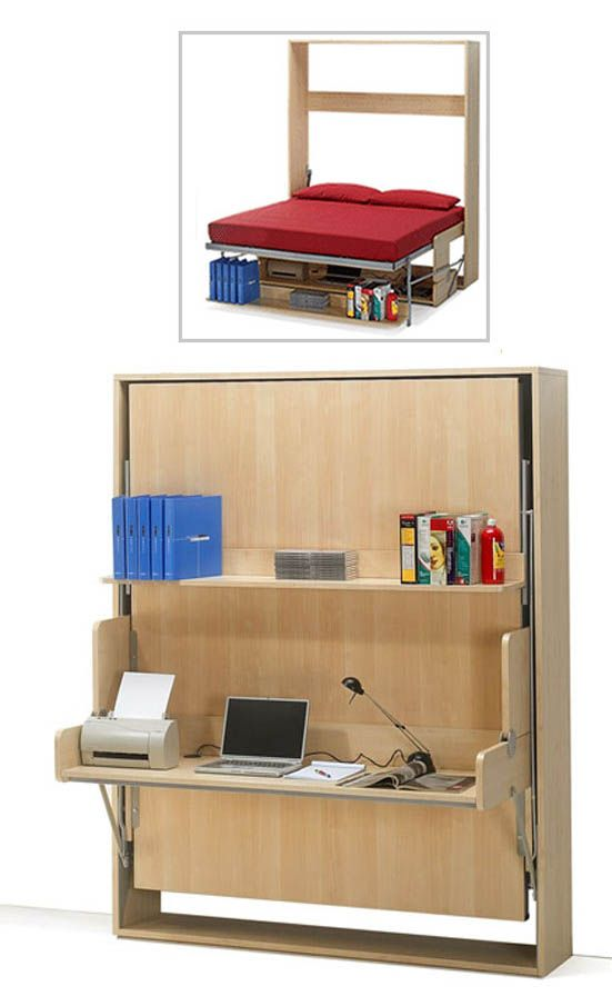 11 space saving fold down beds for small spaces furniture design ideas small space furniture - Folding desks for small spaces concept ...