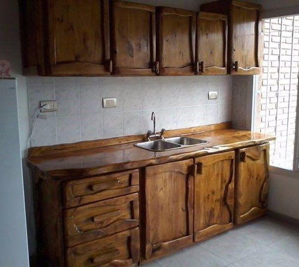 Resultado de imagen para madera rusticos el - Muebles de madera rusticos para cocina ...