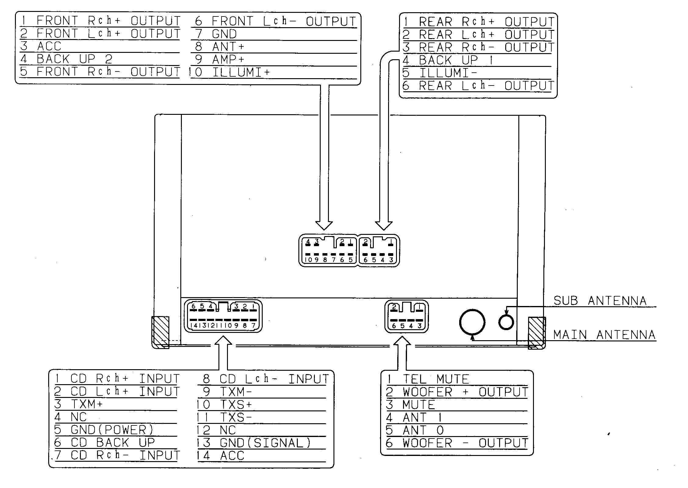 Automotive Wiring Diagram Car amplifier, Electrical