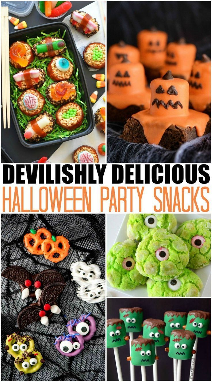 Devilishly Delicious Halloween Party Snacks