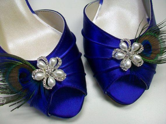 zapatos pavo Parisxox real Wedding Boda de azul por pluma pavo TwqnP5R