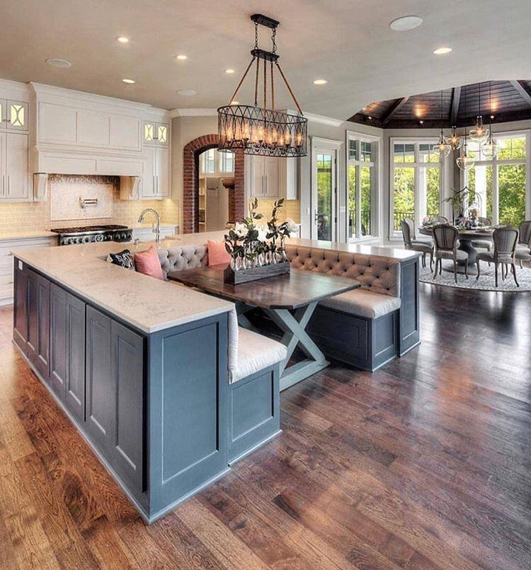 Kitchen Island Ideas With Seating: Pin By Darkk Skin Baddie👑🤗 On Home