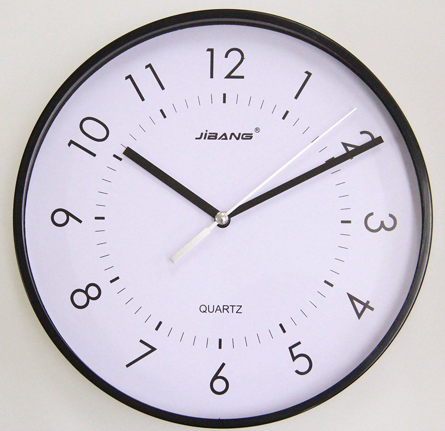 Justnile Minimalist Round 9 Inch Sweeping Movement Wall Clock