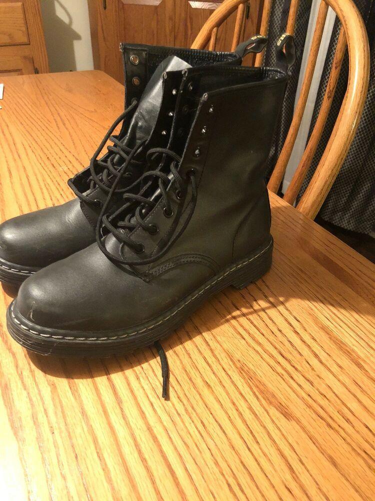 Skechers Women S 10 Combat Boots Fashion Clothing Shoes