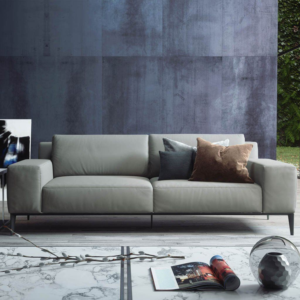 Elizabeth Sofa In Warm Gray Modern Living Room Furniture