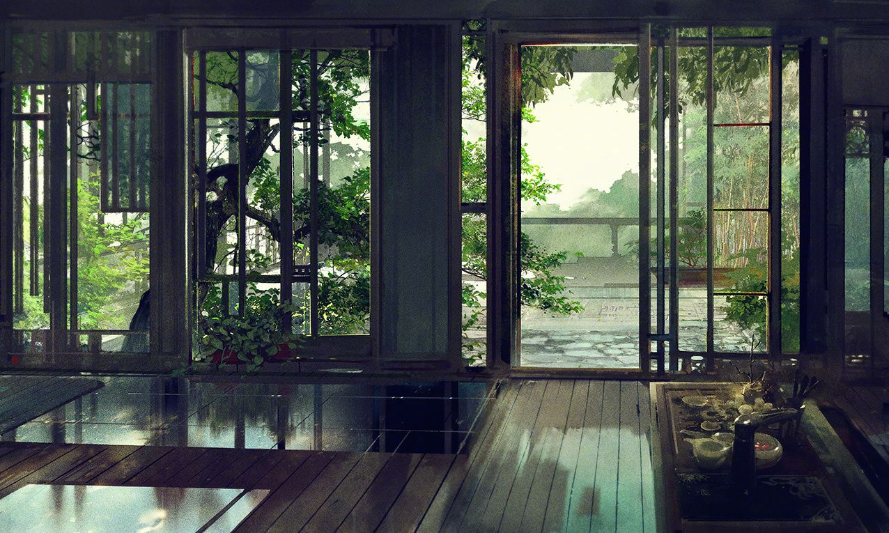 Haulé's home in Teon Wu. | Anime scenery, Chinese courtyard, Fantasy  landscape