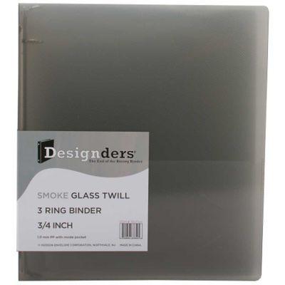 jam paper plastic 3 ring binder 0 75 inch smoke grey sold
