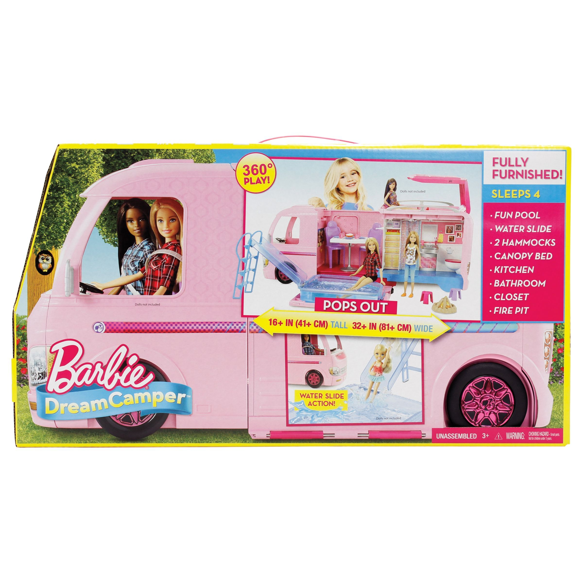 Make Camping Fun Barbie Dreamcamper Adventure Camping Playset With Accessories Fahrzeuge