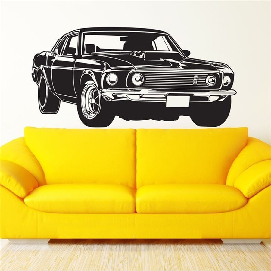 Shelby GT Ford Mustang Muscle Racing Car Wall Decal Art Decor ...