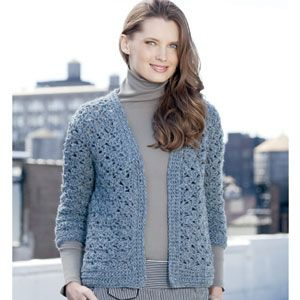 34 sleeve crocheted cardigan pattern in ny yarns kalimba 34 sleeve crocheted cardigan pattern in ny yarns kalimba patternworks exclusive dt1010fo