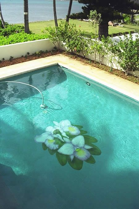 Beautiful, Orchid? | Cool Painted Pools | Swimming pools, Swimming ...