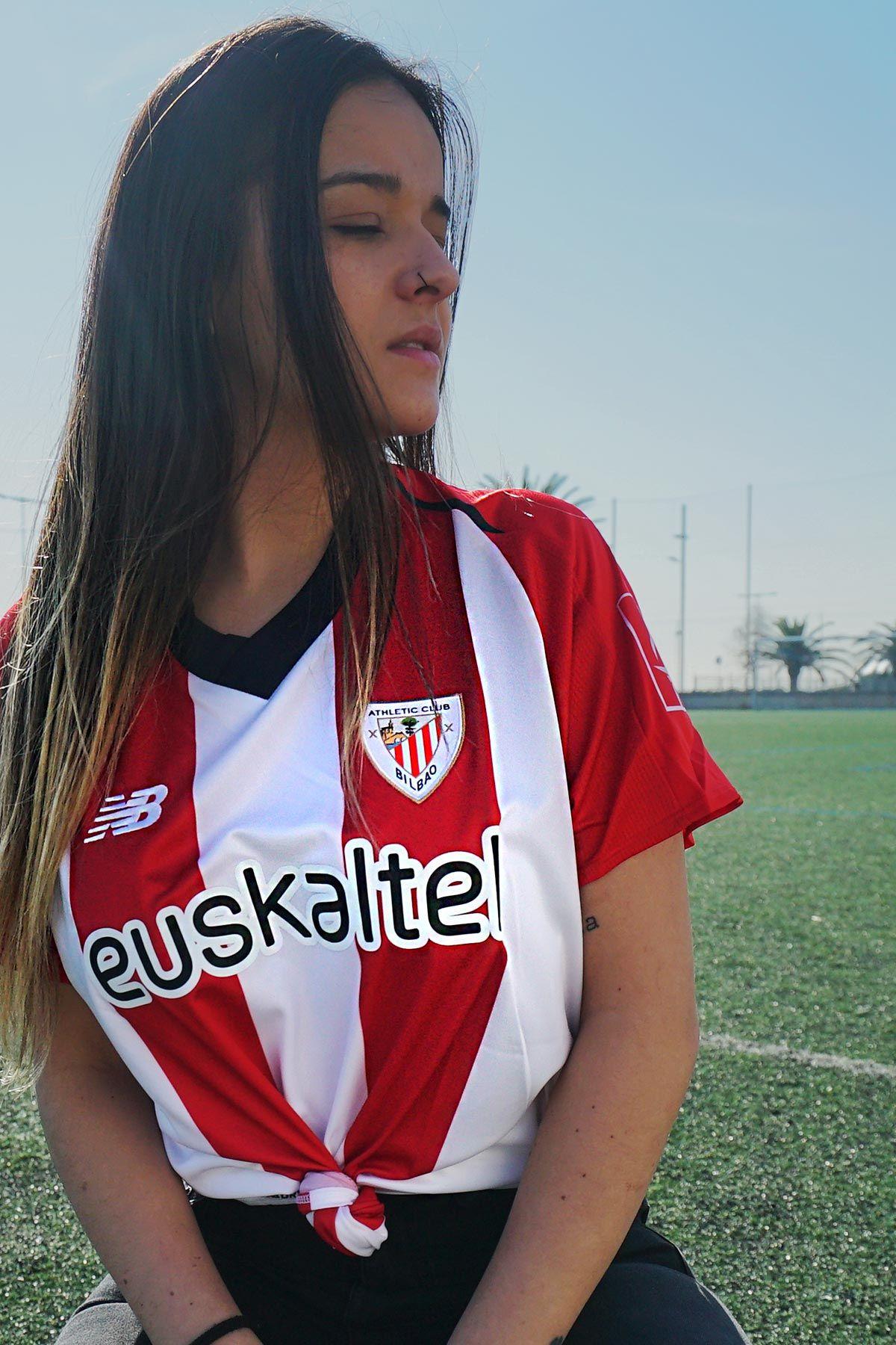 d30f9190985b5 Camiseta mujer primera equipación Athletic Club 2018 - 2019 - Rojo   Blanco