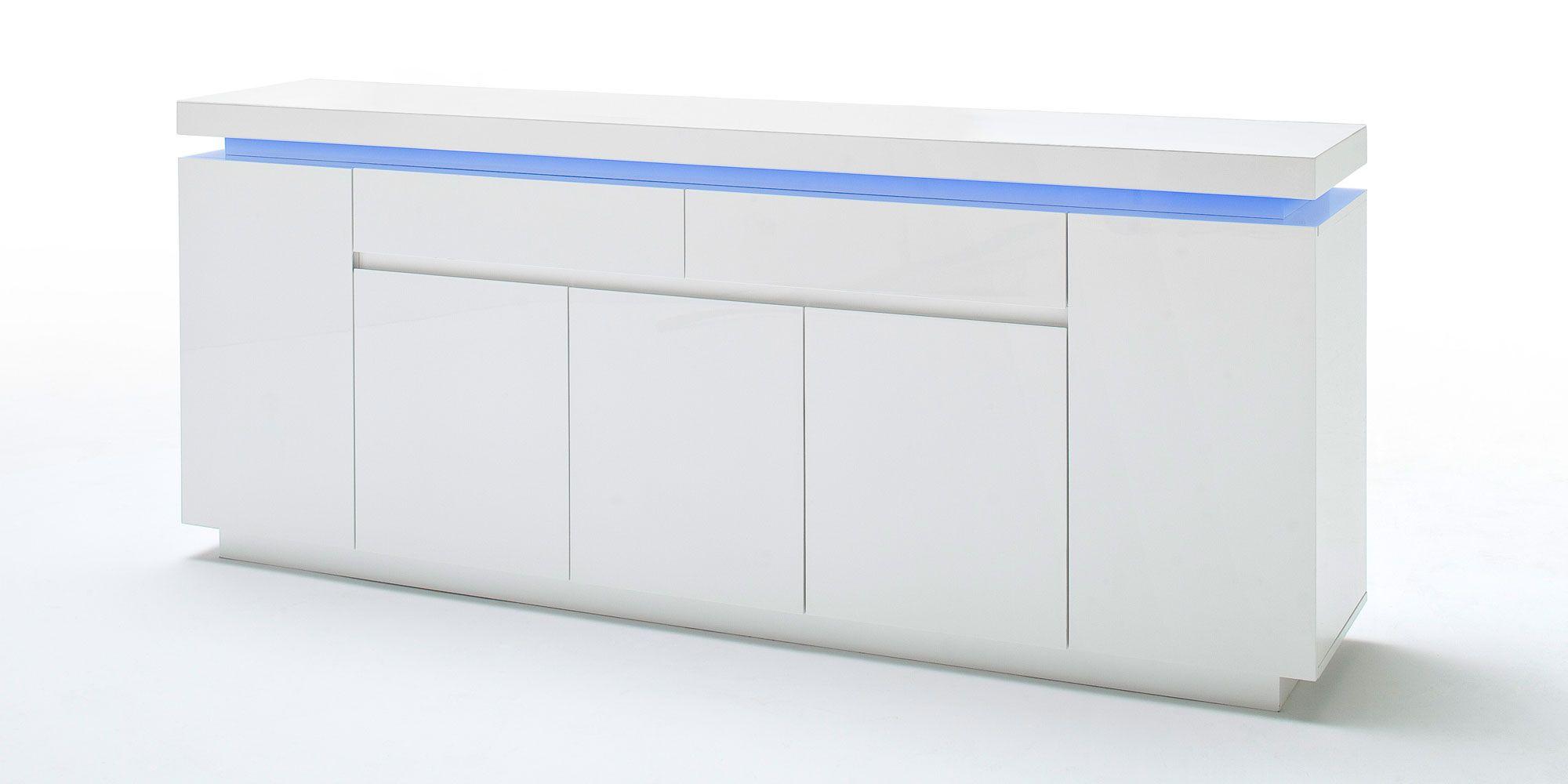 Großartig Hochglanz Sideboard Weiß Dekoration Von Schön Weiß