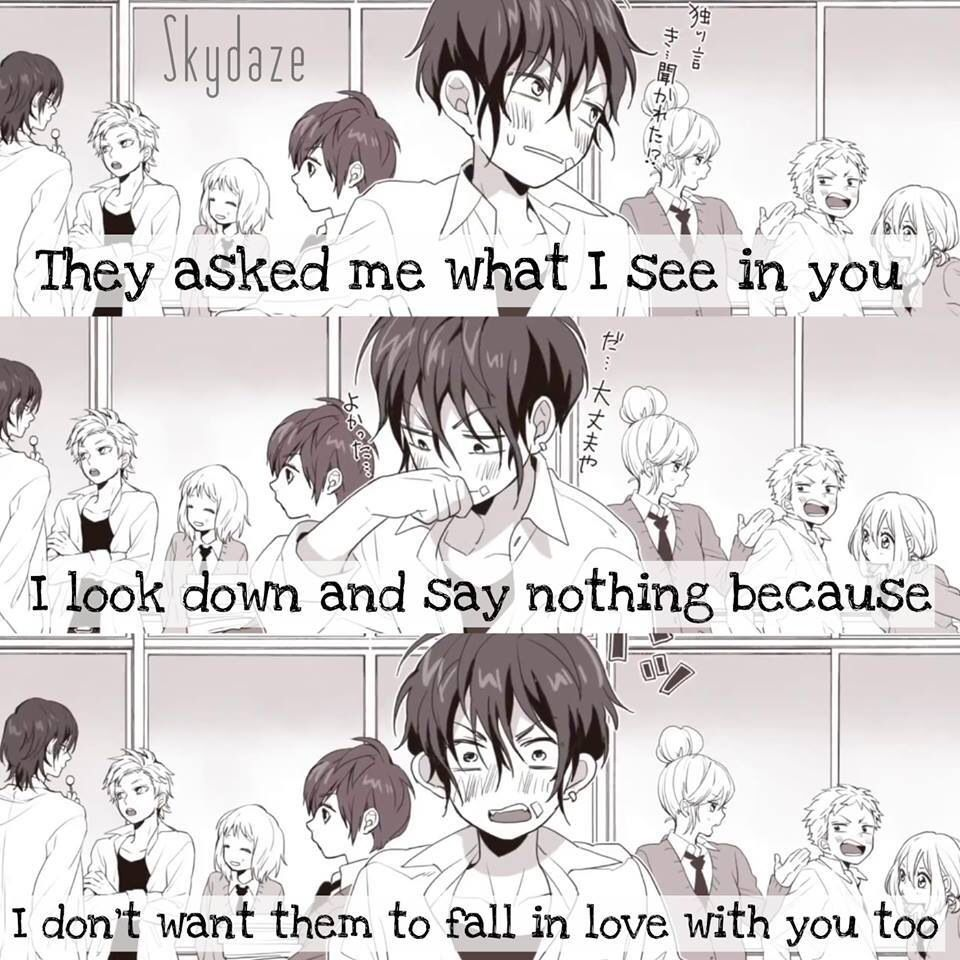 Manga Love Quotes: Cute Quote~ Its From A Song Named Friday's Good Morning