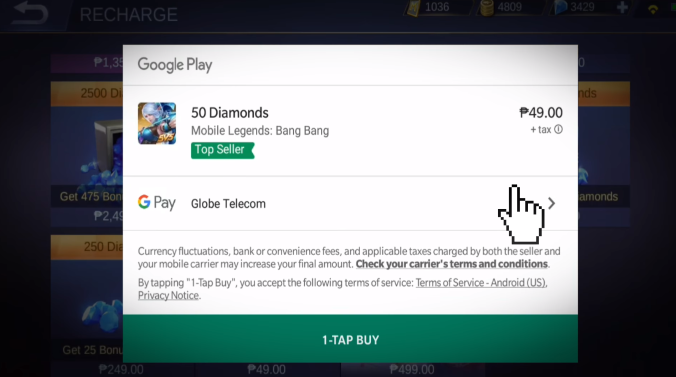 mlbb android recharge guide | mobile legends, playstore