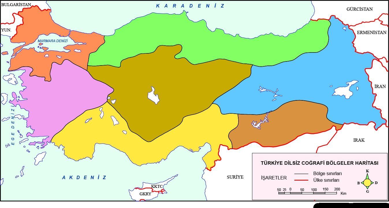Turkiye Dilsiz Haritalari 2020 Harita Cografya Isaretler
