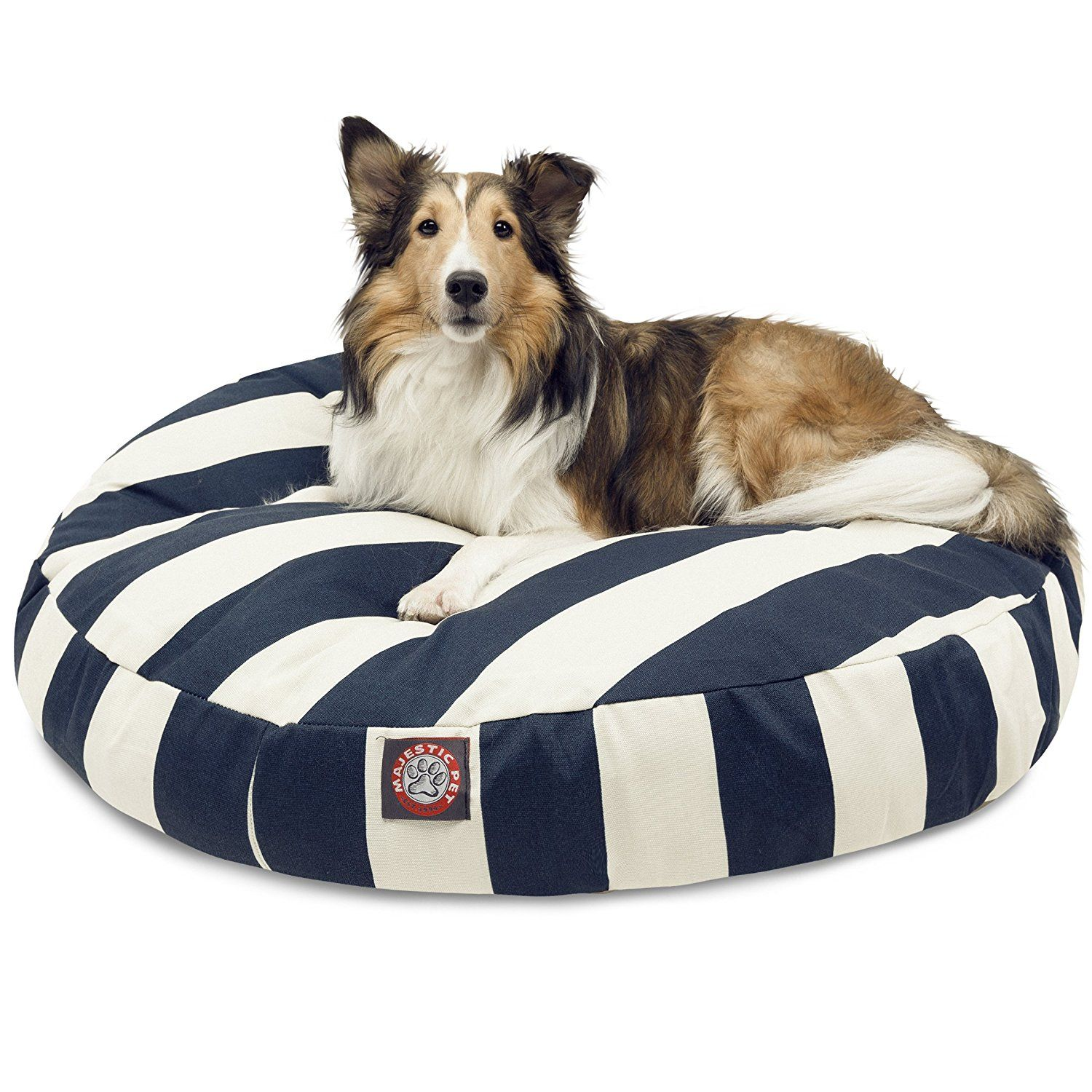 Majestic Pet Striped Round Pet Bed Special Product Just For You See It Now Dog Pet Beds Round Dog Bed Majestic Pet