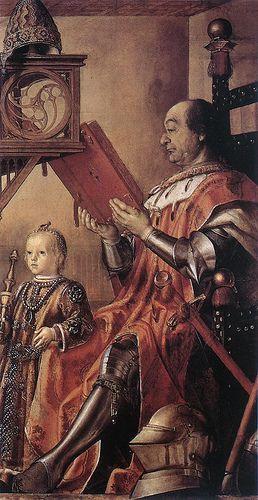 Pedro Berruguete Ritratto Di Federico Da Montefeltro Col Figlio