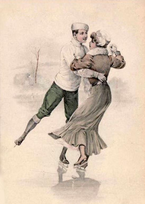 На коньках открытки