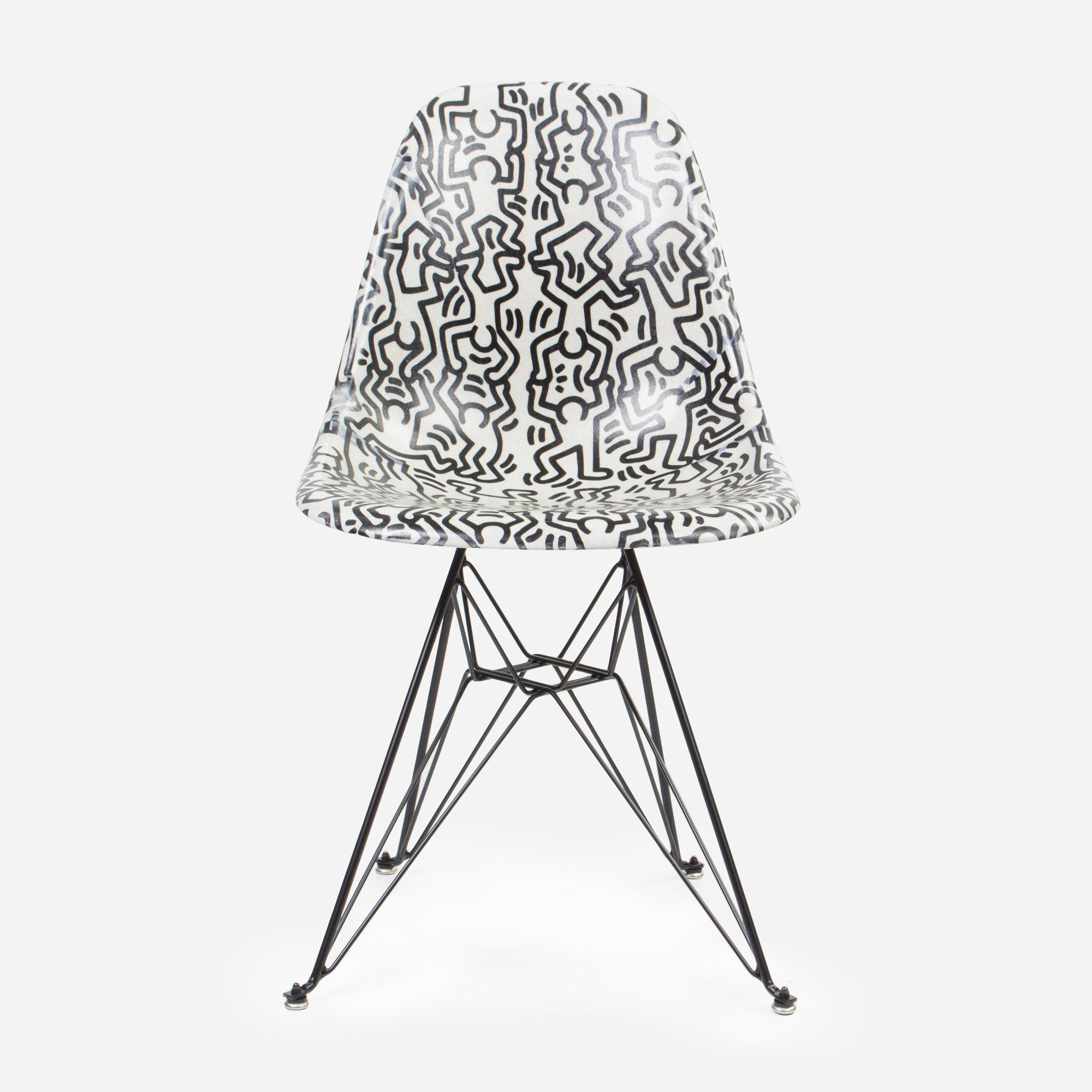 Keith Haring Case Study Side Shell Eiffel Chair