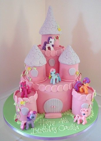 My Little Pony Cake Ideas Castle Twilight Sparkle Pinkie Pie Rainbow Dash Rarity Fluttershy Applejack Unicorn Spike Equestria