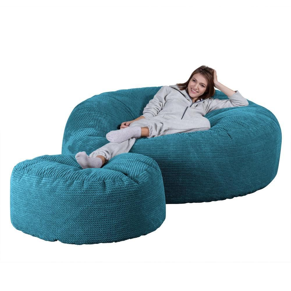 Lounge Pug Mega Mammoth Bean Bag Sofa - Pom Pom Agean Blue beanbags are luxurious, stylish and sophisticated.Colour: Agean. The Lounge Pug mega mammoth bean bag is a great place to relax and pass the time. This mega Mammoth size cord beanbag sofa may be adjusted into various positions as required.
