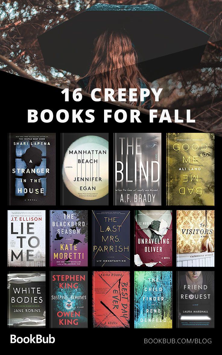 16 Creepy Books to Read with Your Book Club This Fall #bookstoread