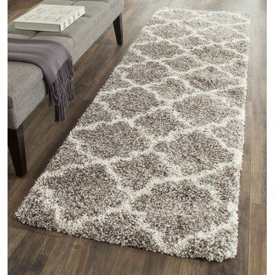 Andover Mills Leah Gray and Ivory Indoor Area Rug | Birch Lane #indoorpaintcolors