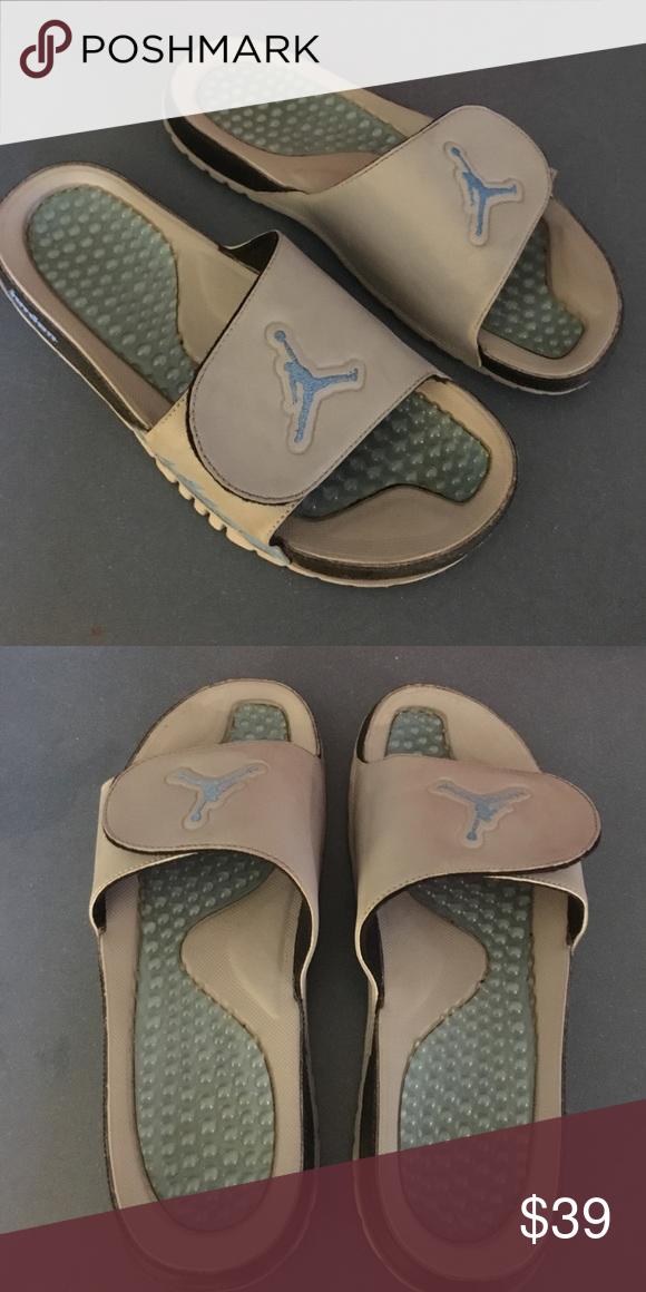 f2a8d910590 Jordon Sandals - Size 10.5 - Grey & Blue Great Condition Jordan Shoes  Sandals & Flip-Flops
