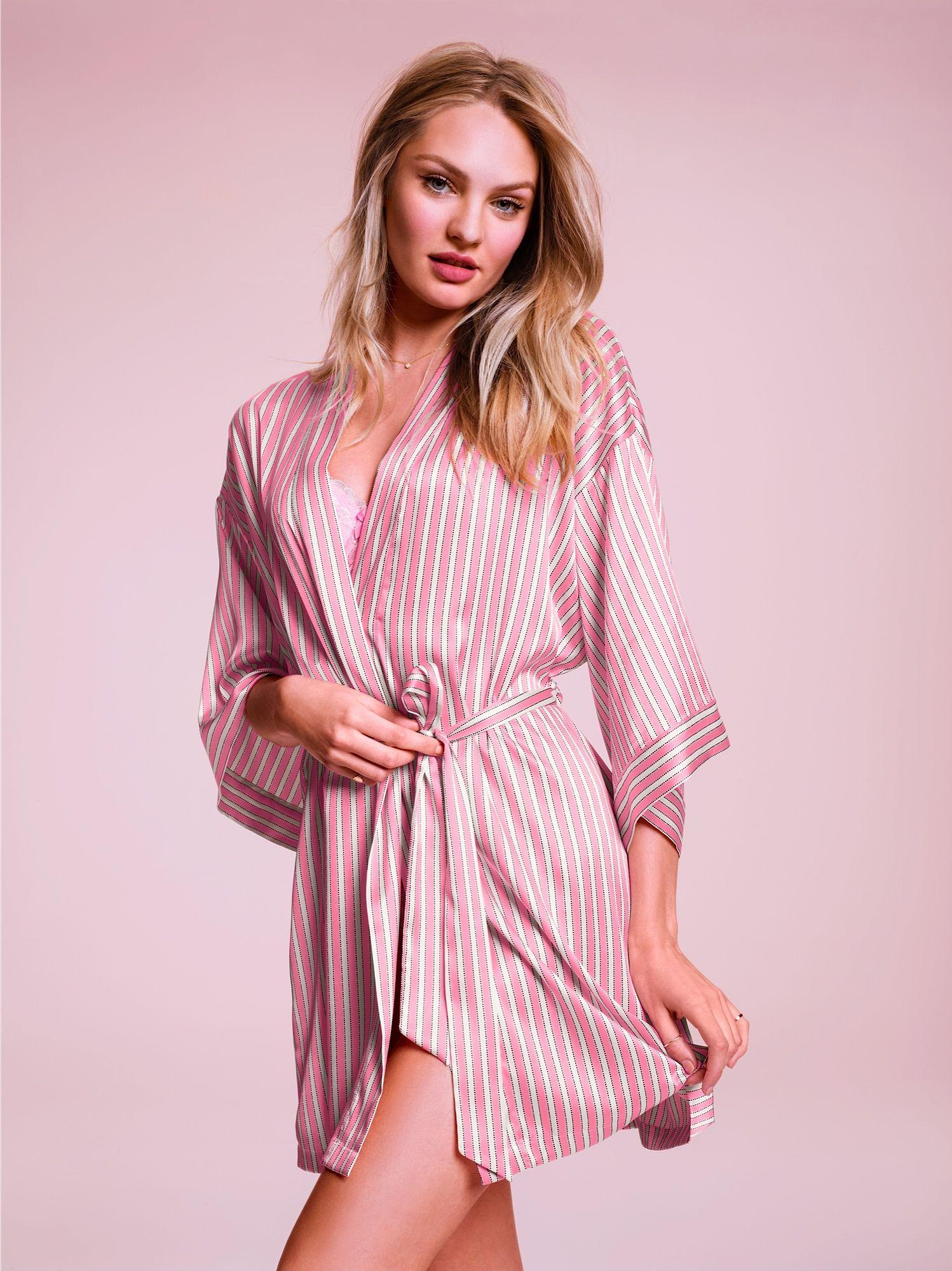 Candice Swanepoel for VS -- Victoria\'s Secret Fashion Show robe ...
