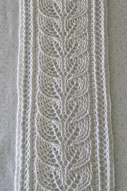 Brooke\'s Column of Leaves Knitted Scarf Pattern pattern by Brooke ...