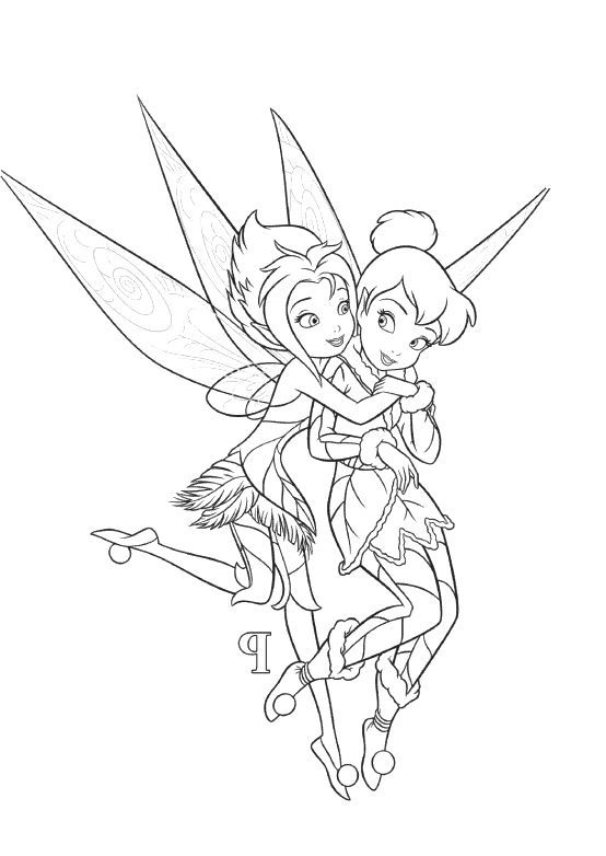Tinkerbell And Periwinkle Coloring Pages Fairy Coloring Fairy