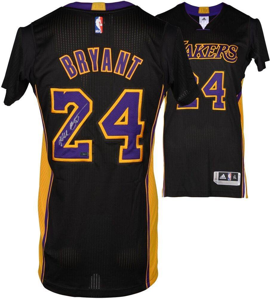 0ec68cc4f Kobe Bryant LA Lakers Signed Black Authentic Jersey - Panini Authentic   sportsmemorabilia  autograph  basketballjersey