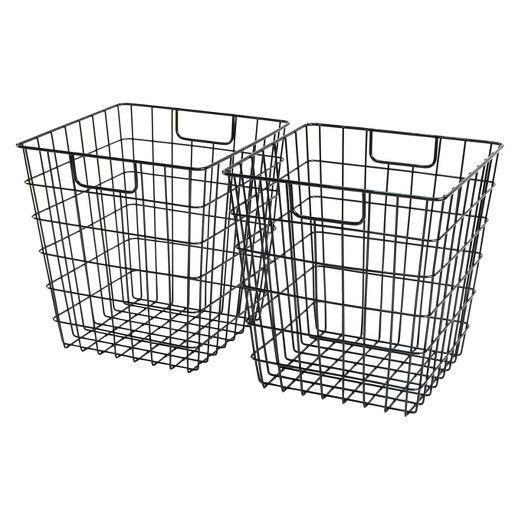 Decorative Wire Basket - Black - Room Essentials | Black rooms, Wire ...
