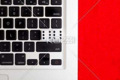 gambling key - Dice and spade as gambling key in a laptop.