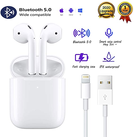 Amazon Com Bluetooth 5 0 Headset Earbuds Headphones Built In Microphone And Charging Box 3d High Definition Stereo Noise In 2020 Earbuds Headphones Wireless Earbuds