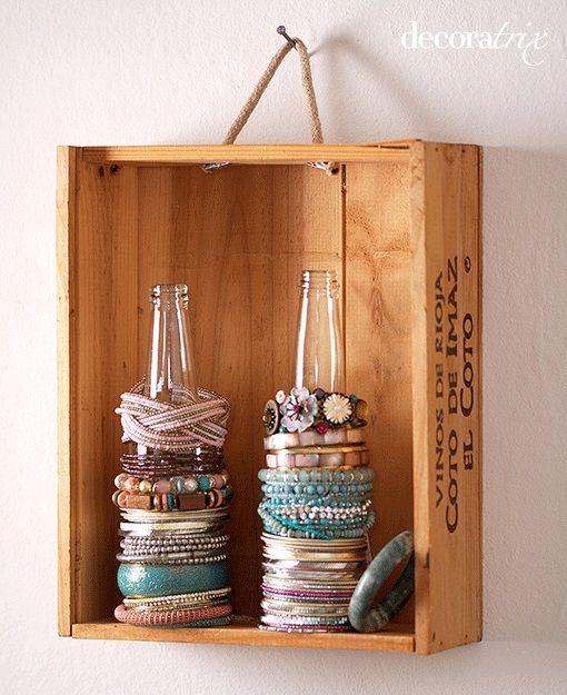 Wine Box Decor Wine Box Shelf …  Home Decor  Pinterest  Wine Box Shelves Box