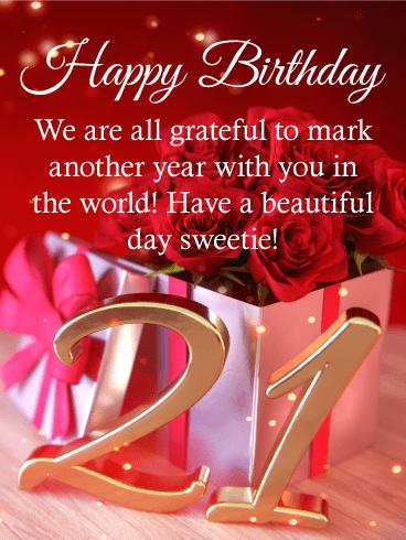 Sweet Roses Happy 21st Birthday Card Birthday Greeting Cards By Davia 21st Birthday Wishes Happy 21st Birthday Wishes 21st Birthday Cards