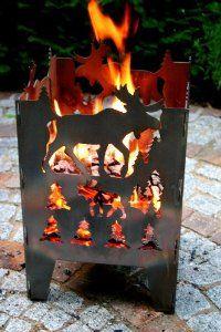 Feuersäule Feuerkorb Elch Gr L Aus Stahl Von Svenskav Amazon