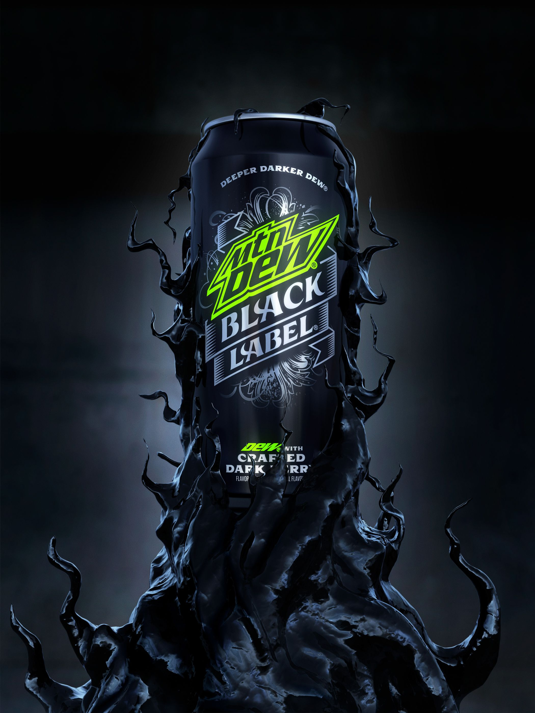 Mountain Dew Black Label Cgi On Behance With Images Tapety