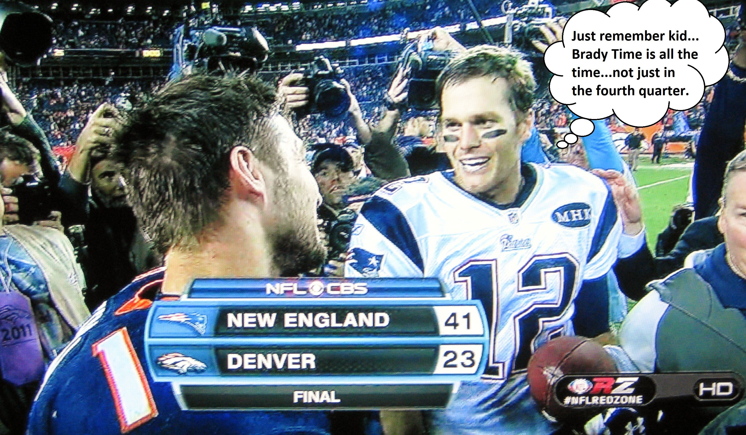 Tom Brady Pats Rock Tim Tebow S Casbah Win Afc East Tim Tebow Tom Brady New England Patriots