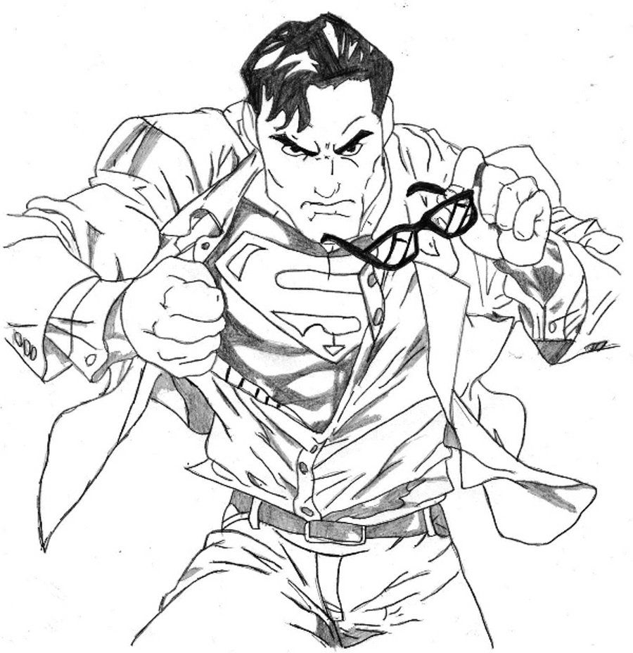 Clark Kent Superman Superhero Coloring Pages Batman Coloring Pages Superman Coloring Pages