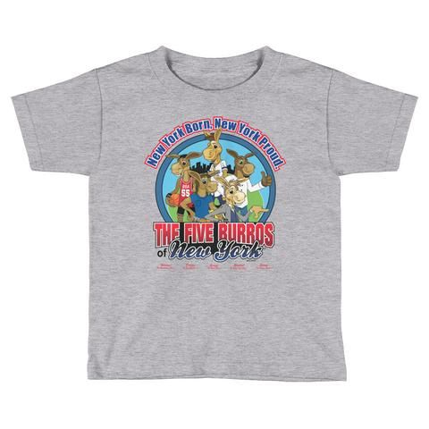 The Five Burros of New York-Logo©-Kids Short Sleeve T-Shirt