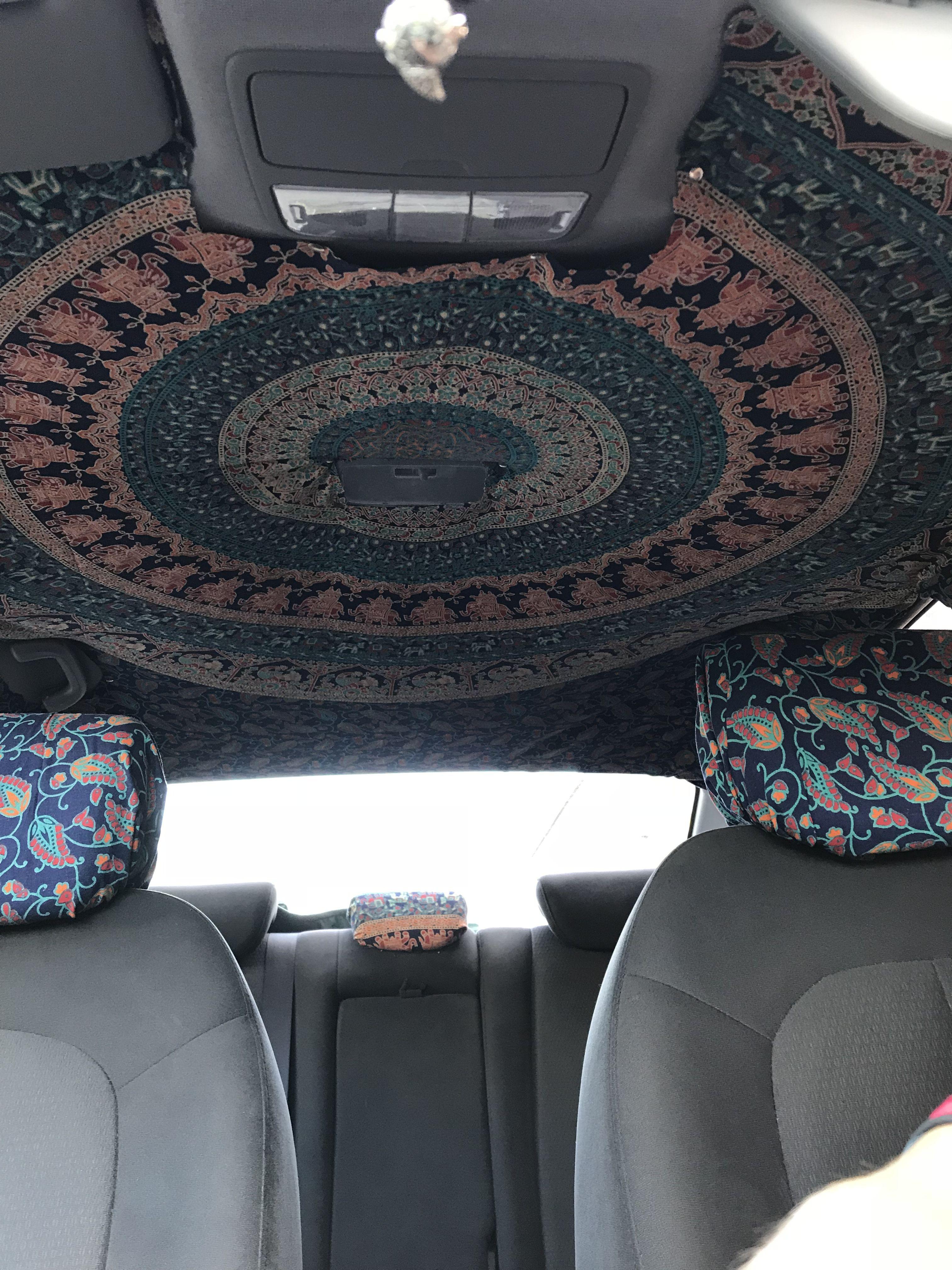 Wall Blanket On Car Ceiling Cute Car Accessories Hippie Car